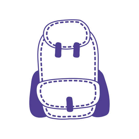 schoolbag supply education isolated icon vector illustration design Banque d'images - 150885531