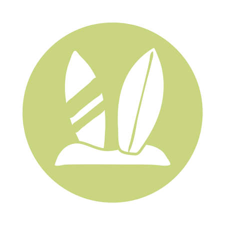 surboard sport block icon vector illustration design