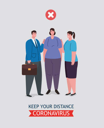 social distancing done in the wrong way, people keeping not safe distance, prevention coronavirus covid 19 vector illustration design