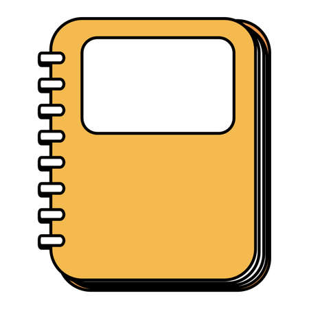 notebook school supply isolated icon vector illustration design Banque d'images - 150888064