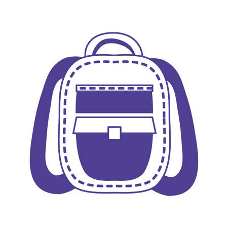 schoolbag supply education isolated icon vector illustration design