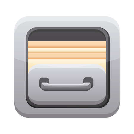 files cabinet app button menu isolated icon vector illustration design