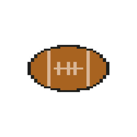 american football balloon 8 bits pixelated style icon vector illustration design Illusztráció
