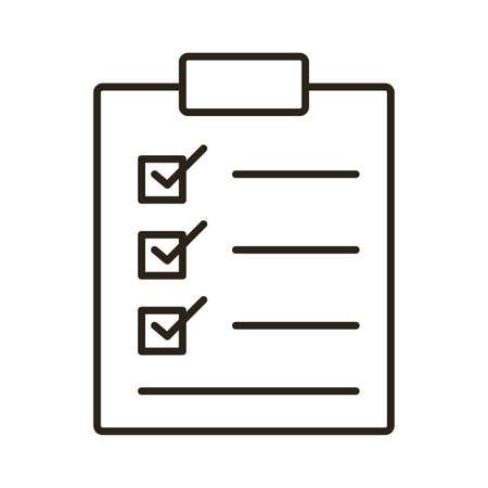 checklist clipboard line style icon vector illustration design