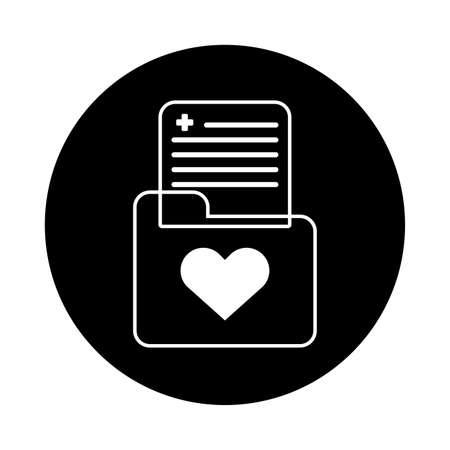 medical folder documents isolated icon vector illustration design