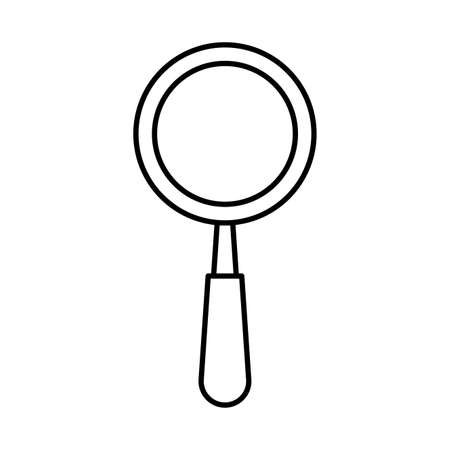 magnifying glass search isolated icon vector illustration design Çizim