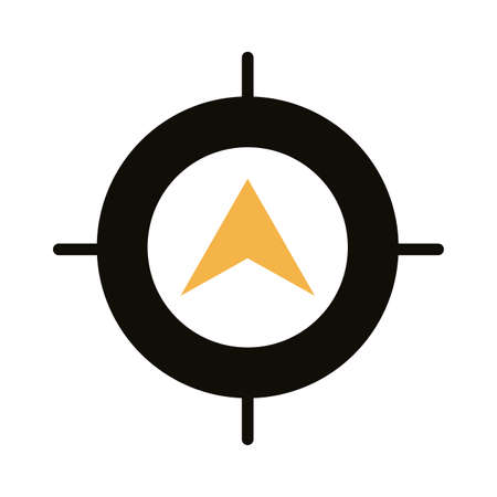 target with compass guide silhouette style vector illustration design 일러스트