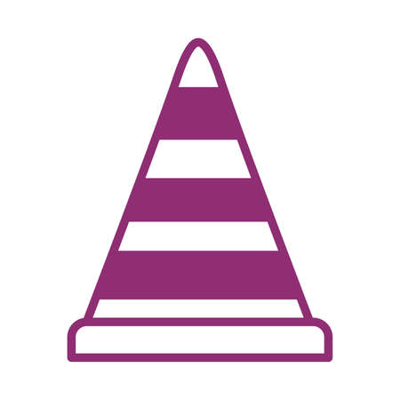 cone protection tool line style vector illustration design