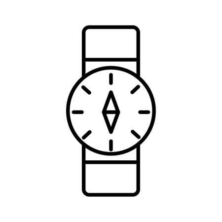 compass guide wristle line style icon vector illustration design