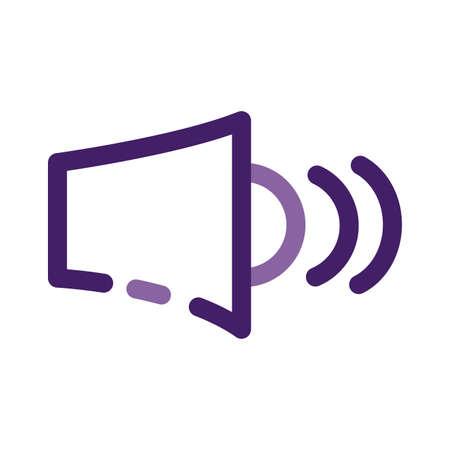 sound speaker audio device line style icon vector illustration design
