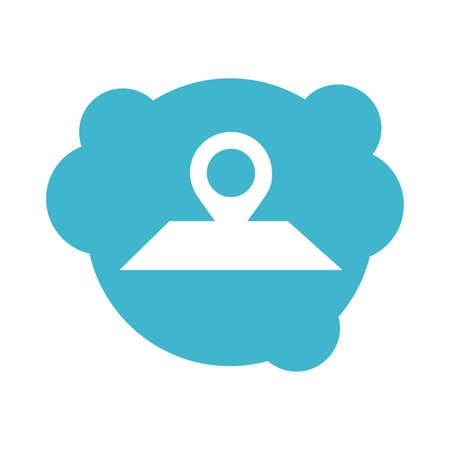 pin pointer location guide block style icon vector illustration design 일러스트