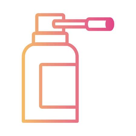 medicine bottle drug linear gradient style icon vector illustration design Ilustração