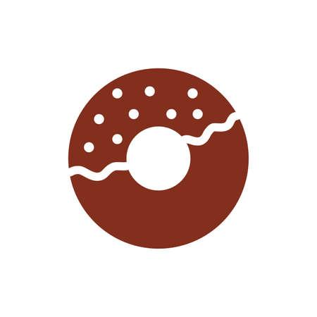 sweet donut pastry silhouette style icon vector illustration design Illusztráció