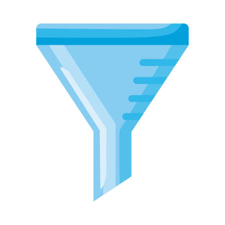 laboratory funnel detailed style icon vector illustration design