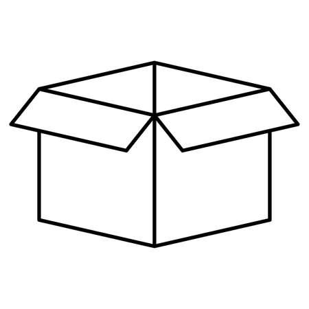 carton box packing isolated icon vector illustration design Ilustração