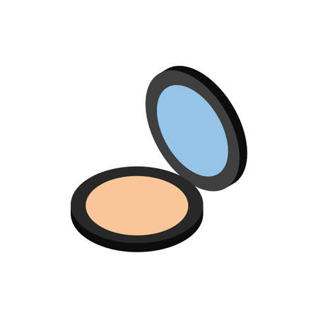 powder pot makeup product isolated icon vector illustration design Ilustração