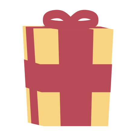gift box present isolated icon vector illustration design 向量圖像