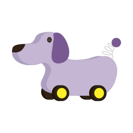 dog design, Toy childhood play fun game gift object present and adorable theme Vector illustration 일러스트