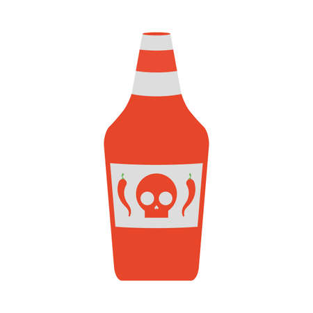 hot sauce bottle isolated icon vector illustration design 向量圖像