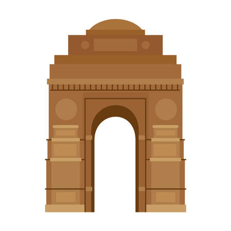india gate, famous monument of india vector illustration design