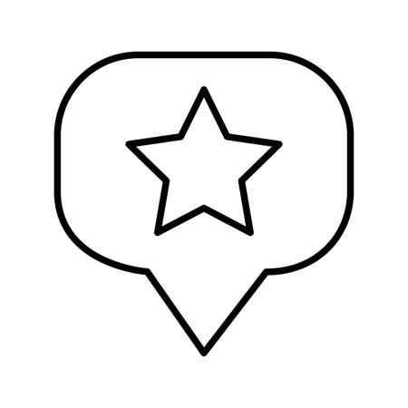 speech bubble with star line style vector illustration design Stock Illustratie