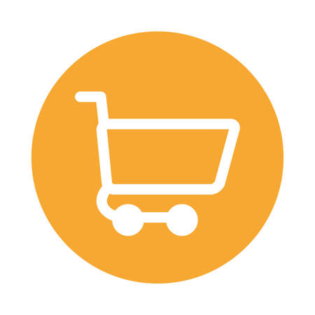cart icon design of Shopping commerce and market theme Vector illustration