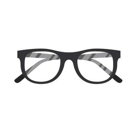 Glasses icon design, Fashion style accessory eyesight optical lens view modern sight and eye theme Vector illustration