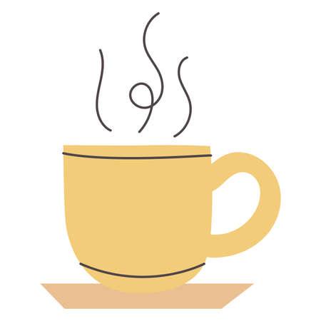 merry christmas chocolate mug icon vector illustration design  イラスト・ベクター素材
