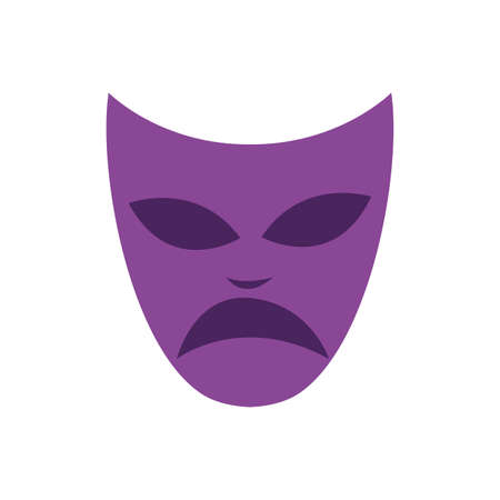 mardi gras theater mask icon vector illustration design