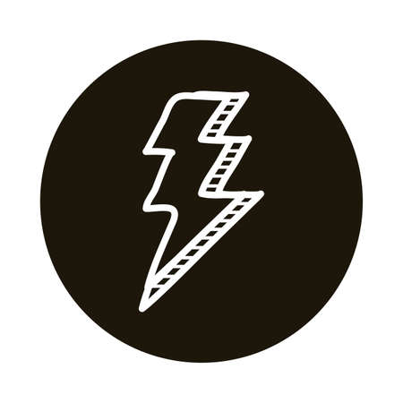 thunder ray doodle block style icon vector illustration design Illustration