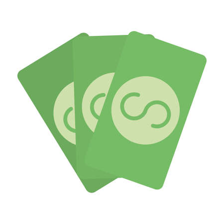 bills money dollars isolated icon vector illustration design
