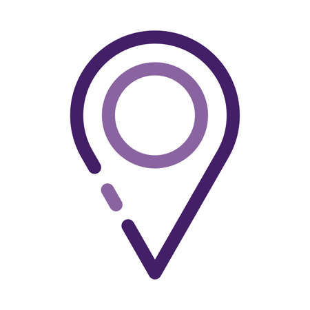 pin pointer location guide line style icon vector illustration design Vettoriali