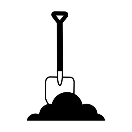 shovel construction isolated icon vector illustration design Illustration
