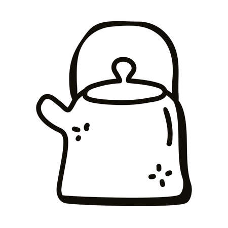 kettle line style icon design, Cook kitchen eat and food theme Vector illustration