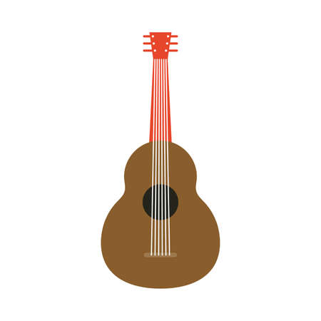 traditional mexican guitar instrument icon vector illustration design