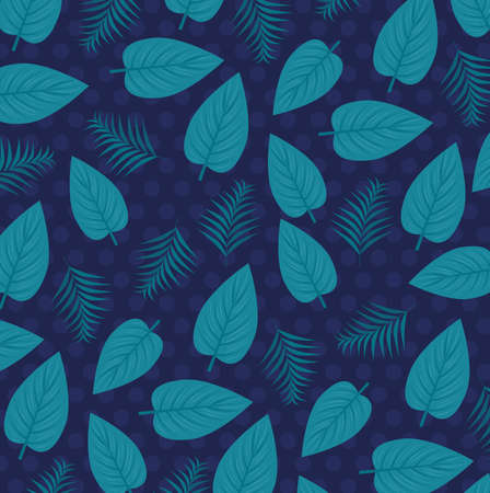 tropical background with jungle plants, decoration with tropical leaves vector illustration design