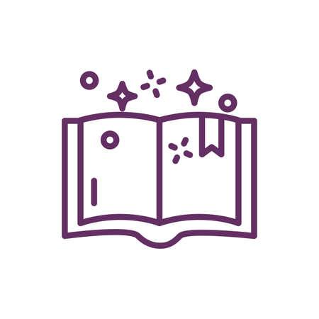 magic sorcery book isolated icon vector illustration design Ilustrace