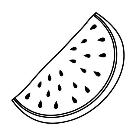 fresh watermelon fruit isolated icon vector illustration design Illusztráció