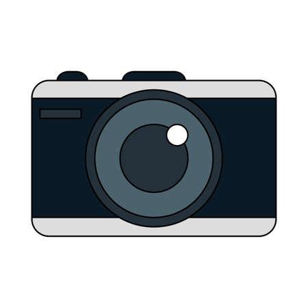 Camera design, Device gadget technology photography equipment digital and photo theme Vector illustration  イラスト・ベクター素材