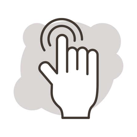 hand index line style icon vector illustration design Ilustração