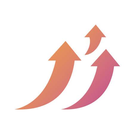 arrows up silhouette style icon vector illustration design Ilustração