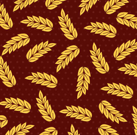 wheat spikes, spikes collection background vector illustration design