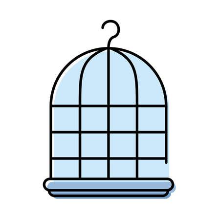 cage mascot care element icon vector illustration design