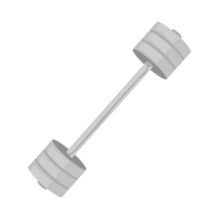 dumbbell gym accessory isolated icon vector illustration design