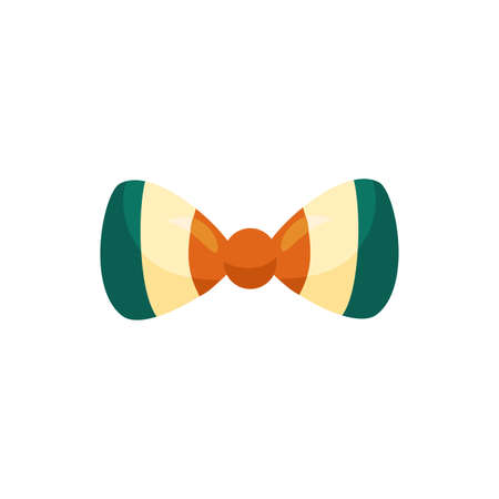 bowtie with ireland flag detaild style icon vector illustration design