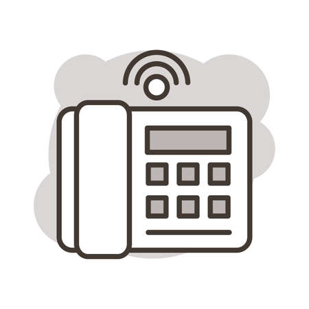 telephone communication line style icon vector illustration design Ilustrace
