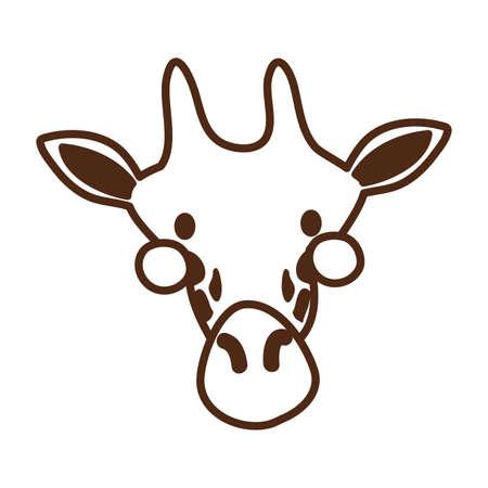 cute giraffe wild animal character icon vector illustration design Ilustracja
