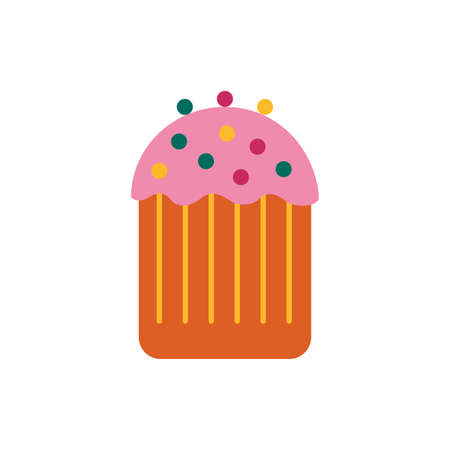 sweet cupcake pastry flat style vector illustration design