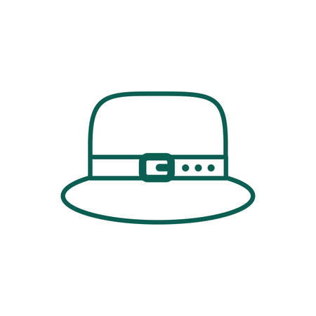 leprechaun hat accessory line style vector illustration design