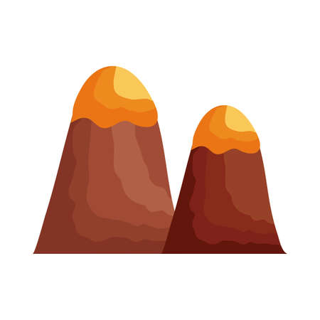 mountains with snow flat style icon vector illustration design 向量圖像